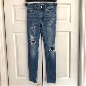4 / $25 American Eagle high rise jegging Jeans